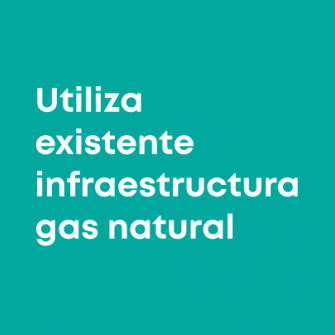 Replaces natural gas infrastructure