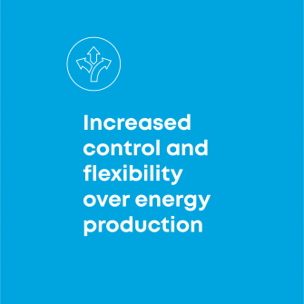 Increased control and flexibility over energy production