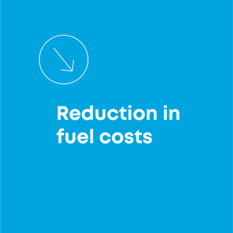 Reduction in fuel costs