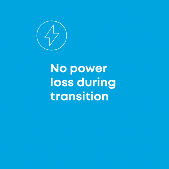 No power loss during transition