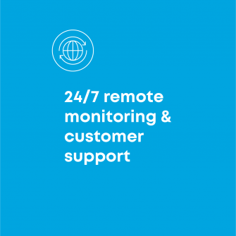 24/7 remote monitoring and customer support