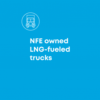 NFE owned LNG-fueled trucks