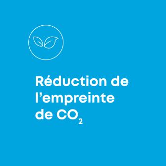 Reduction de l'empreinte de CO2