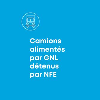 Camiones alimentes par GNL detenus par NFE