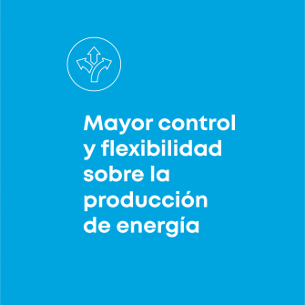 Mayor control y flexibilidad sobre la produccion de energia