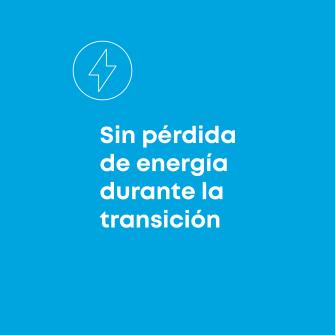 Sin perdida de energia durante la transicion