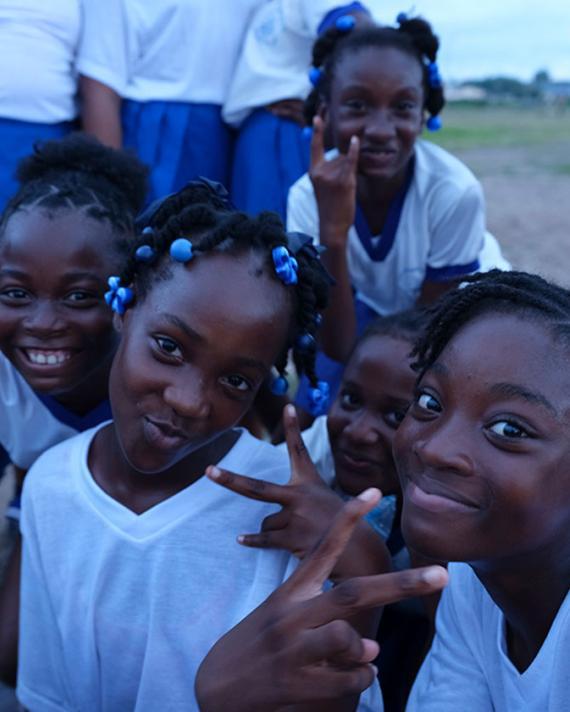 Jamaican school kids