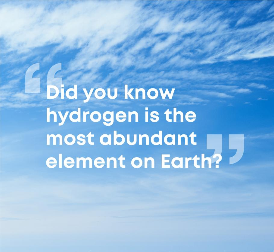 did you know green hydrogen is the most abundant element on earth