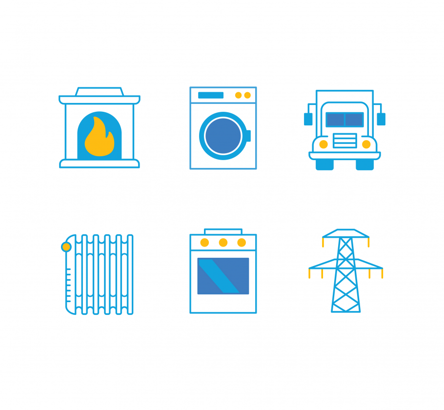 Natural gas is used for many applications